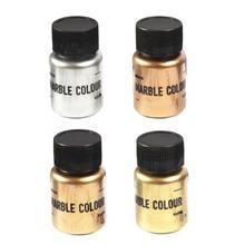 4 kolory/zestaw lustro metalowe z teksturą proszek perłowy żywica epoksydowa barwnik blask marmuru metaliczny Pigment żywica barwnik tworzenia biżuterii