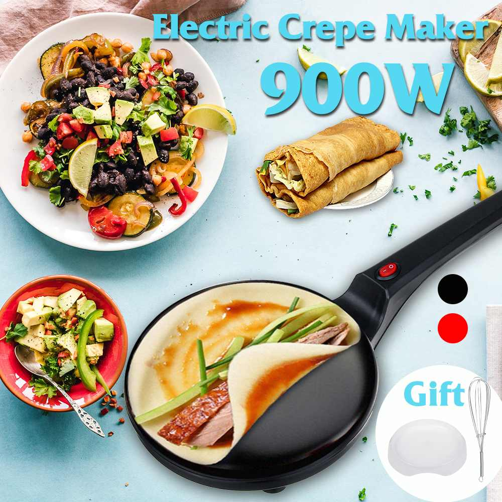 900W 220V Non-stick Electric Crepe Pizza Maker Pancake Non-stick Griddle Baking Pan Cake Machine Kitchen Cooking Tools Crepe