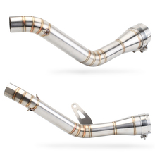 Motorcycle Full Exhaust Middle Pipe Contact Mid Link Pipe Muffler Slip On 51mm Stainless Steel For Kawasaki Z900 Ninja 900 Z900 alconstar stainless steel motorcycle middle exhaust connect mid link pipe exhaust with db killer for bmw f650gs f700gs f800gs