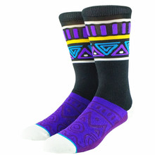 Purple Bohemia Tribal Pattern Men Socks