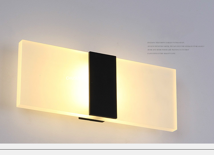 H214609b0005647e29614005370157ca4B - Mini 3/6/12/18W Led Acrylic Wall Lamp AC85-265V 14CM/22CM Long warm white Bedding Room Living Room Indoor wall lamp