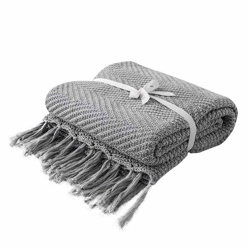 ニット装飾スローブランケットボールオフィス昼寝旅行ソファチェック柄子供大人 Cobertor 布団冬のベッドカバー  グループ上の ホーム&ガーデン からの 毛布 の中 3