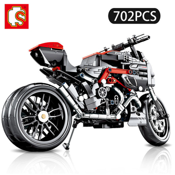 SEMBO Technic Motorcycle Building Blocks MOTO off load Car Creator Expert City Toys For Children Boys Classic Bricks Gift 702pcs new sembo block engineering city construction container truck fit technic building blocks toys bricks toys for children kid gift
