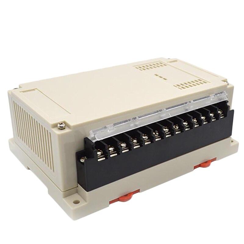 HFES 1 Piece Electronics Enclosure Din Abs Plastic Project Enclosure Control Case Rail Din Connectors Box