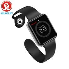 Bluetooth חכם שעון לביש התקני סנכרון Notifier תמיכה Whatsapp עבור Apple Ios Iphone אנדרואיד טלפון Smartwatch (כפתור אדום)