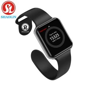 Image 1 - Bluetooth חכם שעון לביש התקני סנכרון Notifier תמיכה Whatsapp עבור Apple Ios Iphone אנדרואיד טלפון Smartwatch (כפתור אדום)