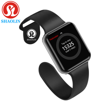Bluetooth Smart Uhr Tragbare Geräte Sync Notifier Unterstützung Whatsapp für Apple Ios Iphone Android Telefon Smartwatch (Rot Taste)