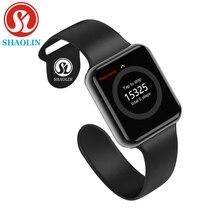 بلوتوث ساعة ذكية يمكن ارتداؤها الأجهزة مزامنة المخطر دعم Whatsapp لابل Ios آيفون أندرويد الهاتف Smartwatch (زر أحمر)