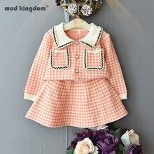 Mudkingodm для маленьких девочек свитер верхняя одежда модная