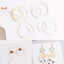 2pcs 18-35mm trendy hoop earrings loop smooth circle brand for women girls jewelry accessories wholesale