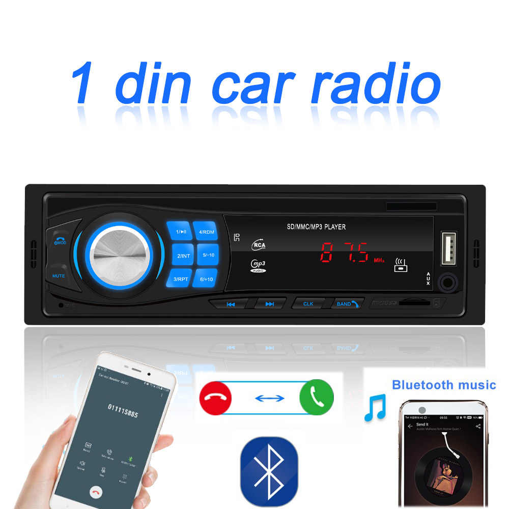 Auto Radio Auto Stereo 1 Din Mobil Radio 12 V Bluetooth V2.0 FM AUX Input Receiver Mobil Audio TF SD USB MP3 MMC WMA Player Multimedia