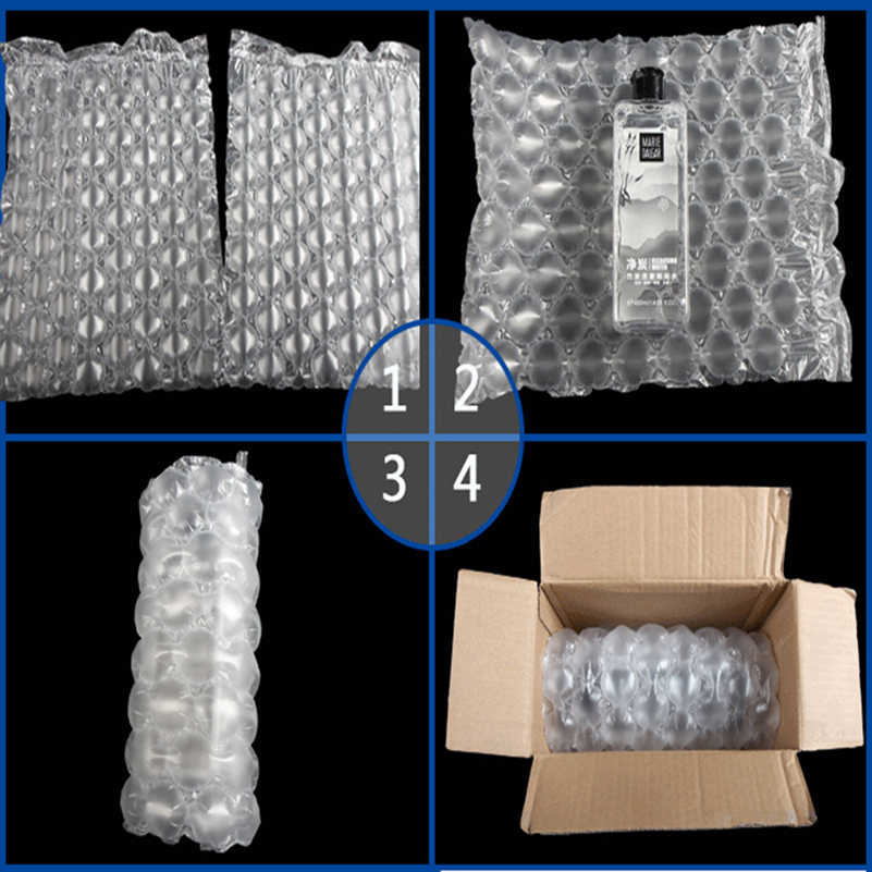 Labu Film Gelembung Buffer Tahan Guncangan Tahan Jatuh Pack Roll Kantong Udara Logisticspressure Relief Inflatable Mengisi Transport Surat Pad