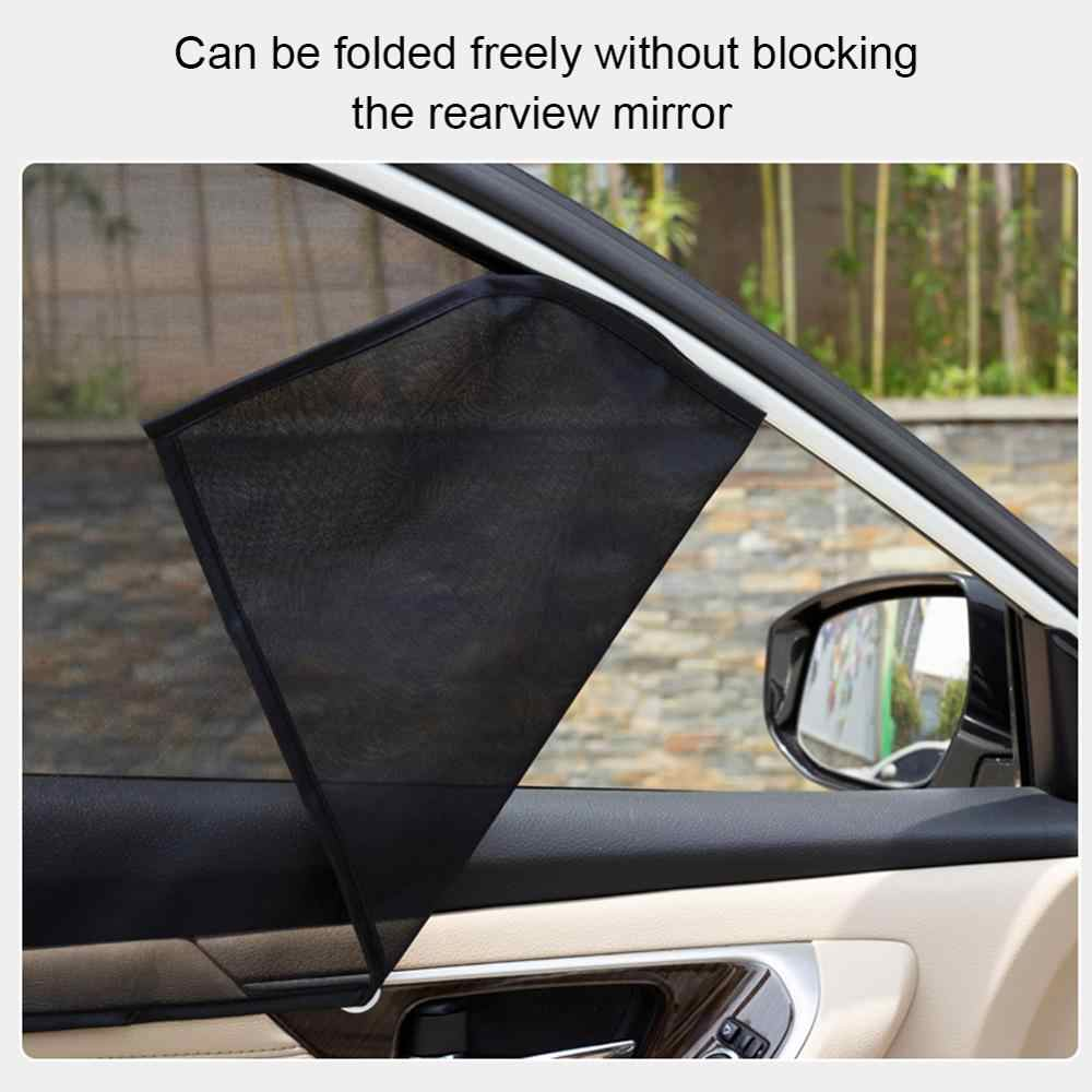 4 Pcs Set Jendela Magnetik Kerai Penutup Blok untuk Anak-anak Depan/Belakang Jendela Samping Warna Cling Kerai Sun Shade cover Visor Perisai