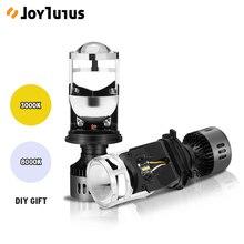 2 pcs h4 led 미니 프로젝터 렌즈 변환 키트 6500 k 헤드 라이트 하이/로우 빔 10000lm 전구 자동차 12 v/24 v