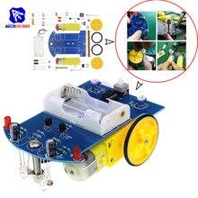 Diymore D2 1 zestaw DIY inteligentna linia śledzenia inteligentny samochód zestaw do Arduino współczynnika odbicia światła przełącznik optyczny samochód Robot