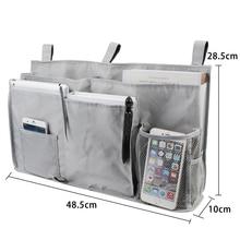 8 Pockets Bedside Caddy Hanging Storage Bag for Dorm Rooms Bed Rails Baby Bed Oxford Cloth Bedside Storage Organizer New 50*30cm цена и фото
