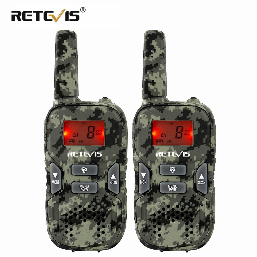 Retevis RT33 Mini Walkie Talkie 2pcs  Kids Two-way Radio 0.5W PMR Radio PMR446 FRS VOX Flashlight Christmas Gift/New Year Gift