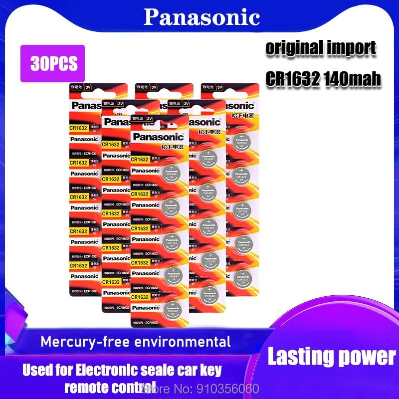 30 шт/2 карты Оригинальный Новый аккумулятор для PANASONIC cr1632 3v кнопочные батареи для монет для часов компьютера cr 1632