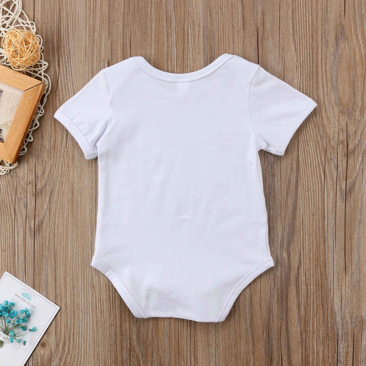 Комбинезон с короткими рукавами и рисунком супергероя для новорожденных, брендовый комбинезон с надписью для маленьких мальчиков 0-24 месяцев, Прямая поставка