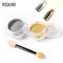 Rosalind unhas espelho brilho arte pigmento em pó gel polonês manicure sparkles para unhas uv cromo holográfico unhas decorações