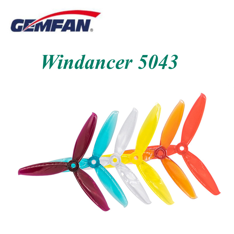 24PCS/12 Pairs Gemfan Windancer 5043 5x4.3 5 Inch 3-Blade Propeller M5  CW &  CCW For RC FPV Racing Drone Spare Parts