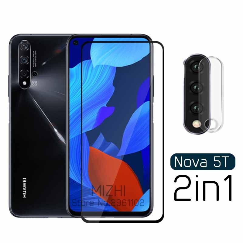 2 In 1 Protective Glass For Huawei Nova 5t Yal-l21 Camera Back Cover On Huwei Nova5t Nova 5 T T5 6.26'' Tremp Glasses Lens Case