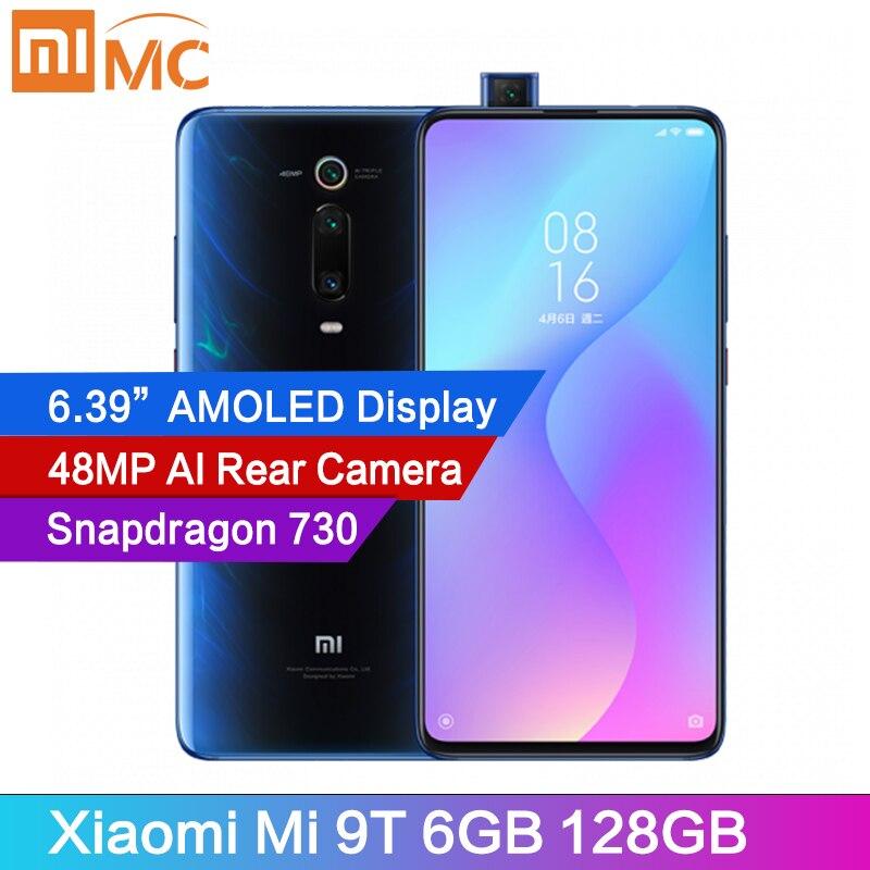 """Wersja globalna Xiaomi Mi 9T 6GB 128GB 48MP AI tylna kamera Pop up telefon komórkowy Snapdragon730 6.39 """"wyświetlacz AMOLED MIUI 4000mAhTelefony Komórkowe   -"""