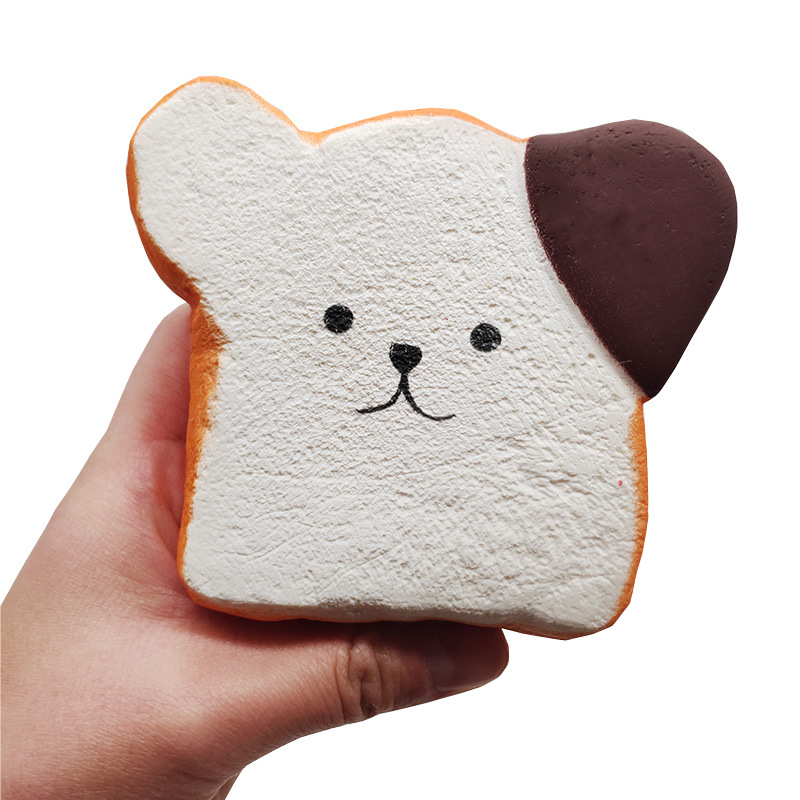 Squeeze Toys Slow Rebound Simulation Toast Bread Pu Slow Rebound Bread Cake Children's Toys Christmas Halloween Gift