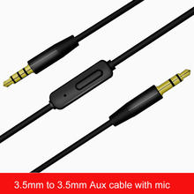 3.5mm Male to Male Aux Audio Cable Pro 3.5 Jack MIC AUX Cable With Mic for Car Stereo Earphone iPod