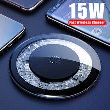 15W Qi Draadloze Oplader Voor Iphone X 11pro Usb Quick Fast Opladen Desktop Pad Voor Samsung S10 Mobiele Telefoon sikai