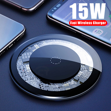 15W Qi Wireless Charger for iPhone X 11pro USB Quick Fast Charging Desktop pad for Samsung S10 Mobile Phone SIKAI