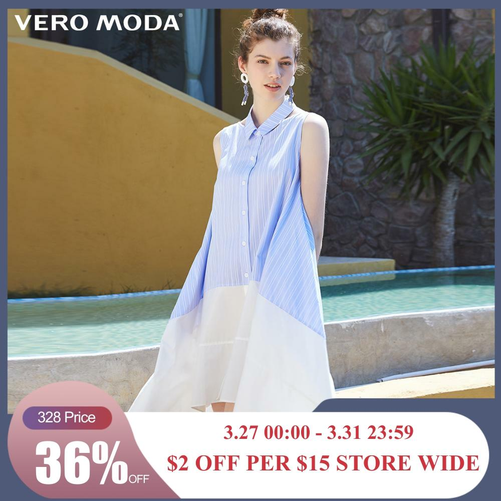 Vero Moda Women's 100% Cotton Detachable Assorted Colors Shirt  Dress | 31927A570