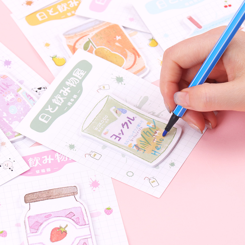 30 Sheets Beverage Shop Series Notes Small Fresh Students Can Tear The Message Note Pad Memo Pads