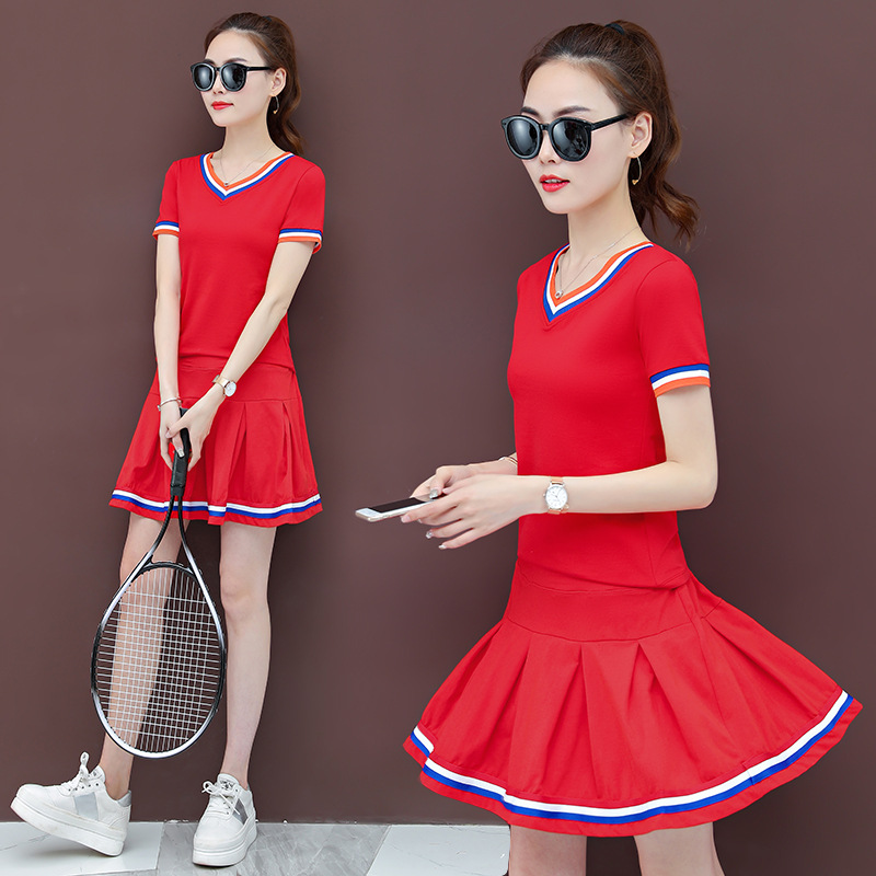 Square Dance Clothing New Style Set Fitness Sports Clothing Ghost Step Dance Clothes Set Costume Kindergarten Suit Skirt