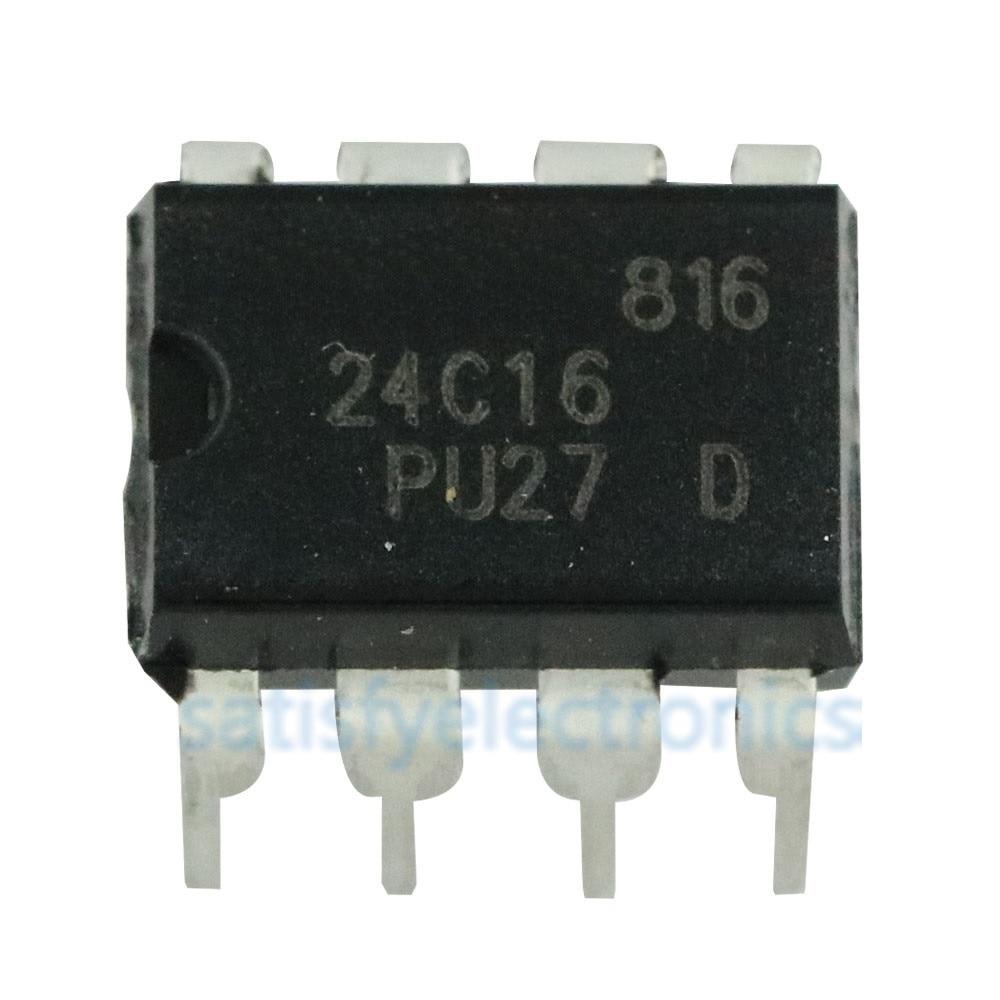 5Pcs AT24C16 AT24C16AN-PU-2.7 Eeprom DIP8 co