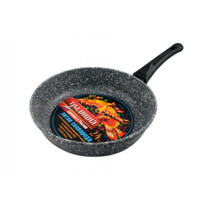 Frying Pan Tradition, Marble, 24 cm, detachable handle frying pan grill tradition comfort 26 cm detachable handle