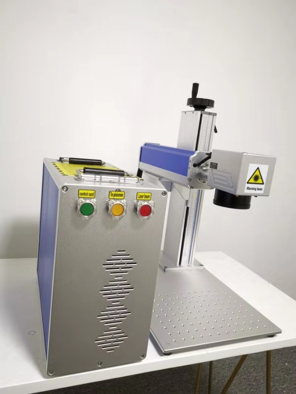 50W Metal Laser Marking Machine With Rotary Ring And Spare Lens 1