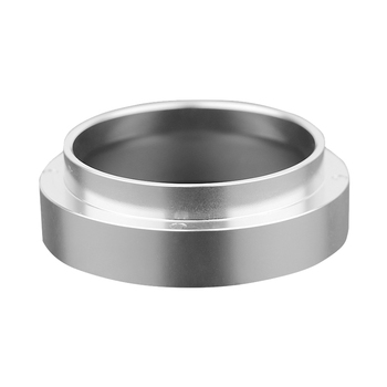 58mm Stainless Steel Intelligent Dosing Ring Brewing Bowl Coffee Powder for Espresso Barista Funnel (Silver) stainless steel 51mm 53mm 58mm coffee powder ring intelligent dosing espresso barista bowl funnel portafilter coffee accessories