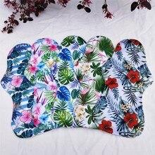 5pc Waterproof Washable Bamboo Charcoal Cloth Pads Reusable Heavy Flow Sanitary Napkin Menstrual Pads feminine care + 1 wet bag