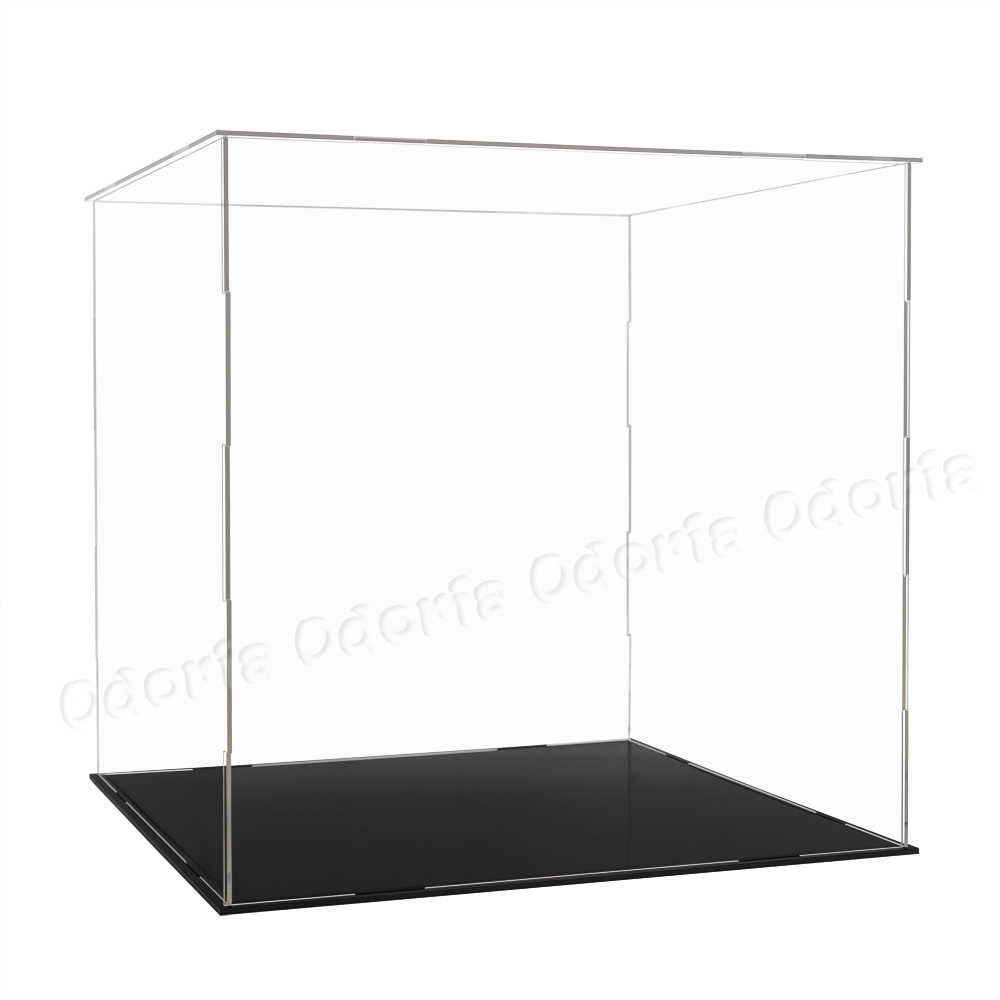 30cm Perspex Acrylic Display Case H Box Plastic Base Dustproof Figure Trophy TO