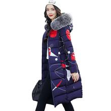 Женское теплое пальто, длинные женские зимние парки, куртки с меховым воротником, толстая верхняя одежда с капюшоном, теплая верхняя одежда, Casaco Feminina Inverno