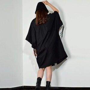 Image 2 - [XITAO] فستان بطبعة مطرزة بمقاسات كبيرة للنساء بياقة مقلوبة مُزين برسومات واحدة ملابس للنساء 2019 جديد XJ1509