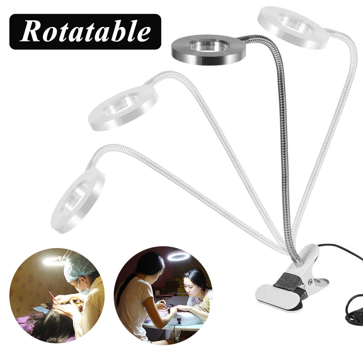 Led Clip Tafellamp Dimmen Bureaulamp Permanente Wenkbrauw Manicure Light Usb Voor Night Reading Nail Art Beauty Make-Up