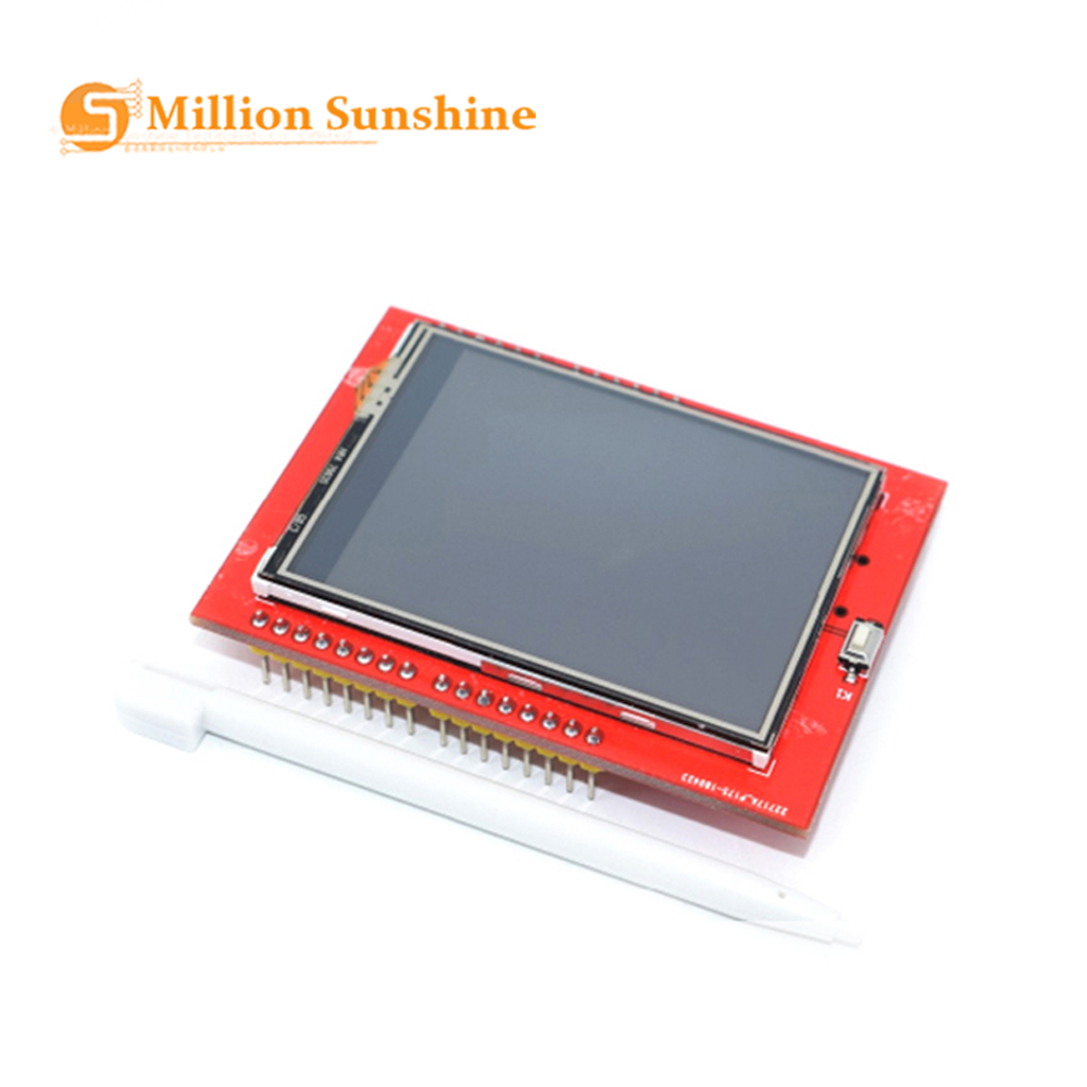Newest 2.4 Inch TFT LCD Touch Screen Shield For Arduino UNO R3 Mega2560 LCD Module 18-bit 262,000 Different Shades Display Board