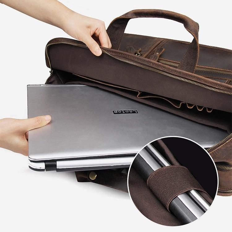 H2148d477802046fba3c27ea0acf2b071D MAHEU Vintage Leather Mens Briefcase With Pockets Cowhide Bag On Business Suitcase Crazy Horse Leather Laptop Bags 2019 Design