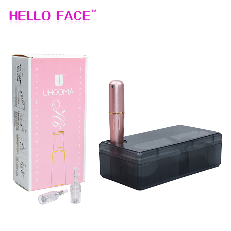 Auto Wireless Derma Pen Ultima MTS Permanent Makeup Tattoo Pen With 2 Cartridges Microneedling Kit Dermaplaning Face Roller