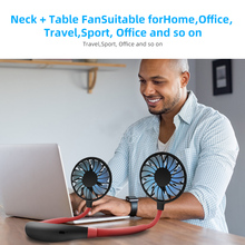 USB Portable Rechargeable Neck Desk Hand Air Conditioner