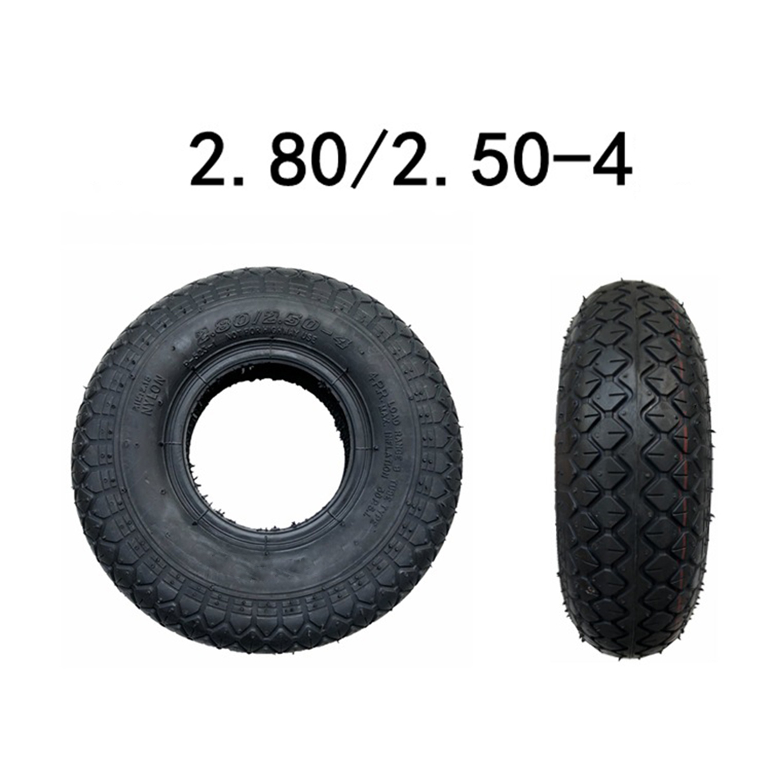 9 Inch <font><b>2.80/2.50</b></font>-<font><b>4</b></font> Thick Tire / Inner Tube For Elderly Electric Scooter Anti-explosion No Need To Fill Air image