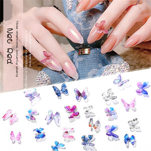 15 Colors Acrylic 3D Butterfly Nail Art Decorations Delicate Nail Art Butterfly Nail Art Ornament Nail Accessoires