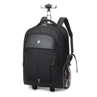 Neue reise mode trolley koffer tasche mit schulter gurt große räder rucksack reise gepäck tragen auf koffer marke trolley tasche